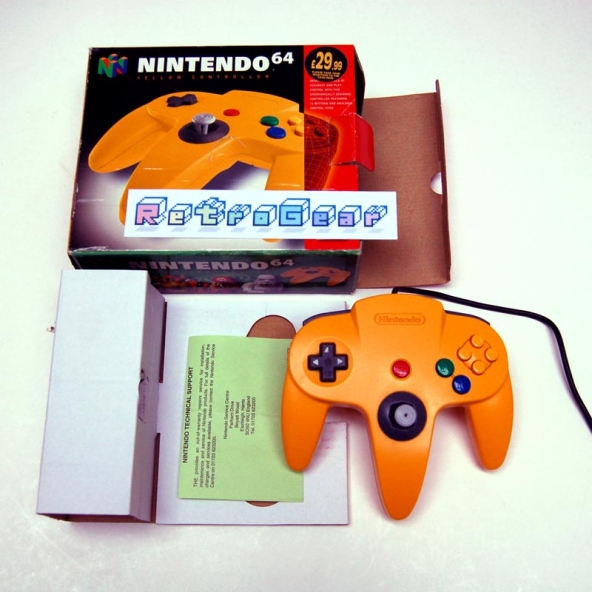 N64 Yellow Controller - boxed