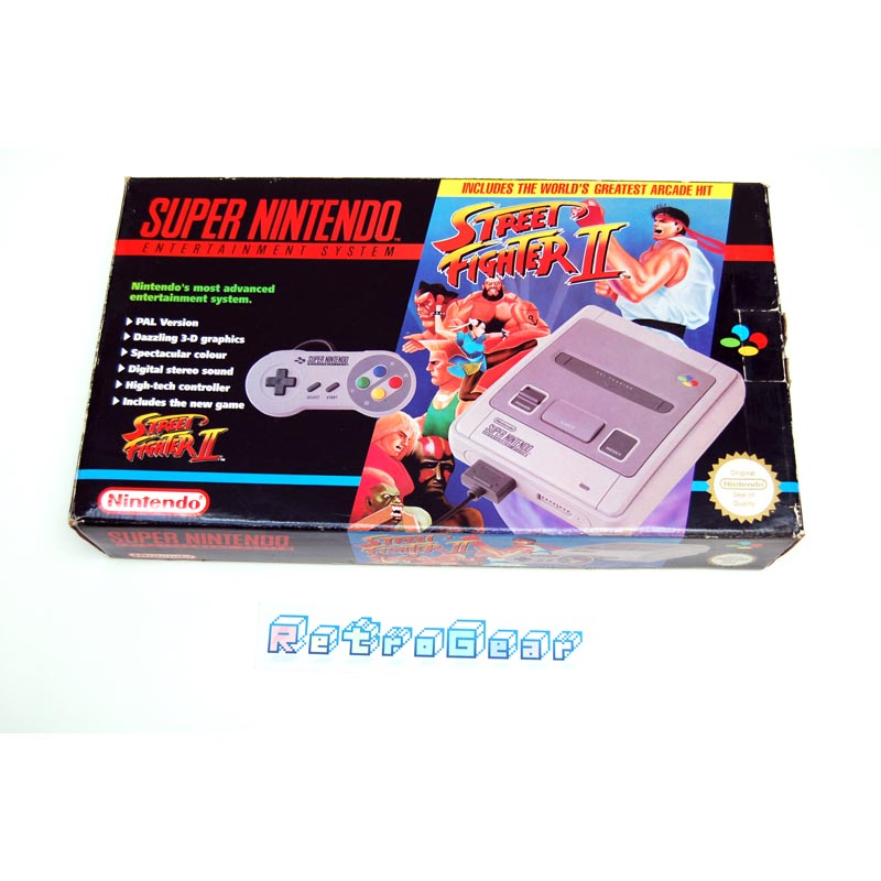 Nintendo SNES Street Fighter II set - boxed - complete A